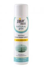 Lubrifiant Pjur Med Natural Glide 100ml : Gel lubrifiant intime naturel haute qualité spécial peaux sèches, hydratant et doux, très glissant, à base d'eau.