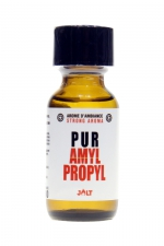 Poppers Pur Amyl-Propyl Jolt 25ml  : Arôme d'ambiance hybride (un mix d'Amyle et de Propyle) de la collection PUR de Jolt, en flacon de 25 ml.